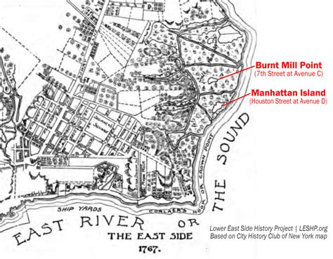 map of manhattan island lower east side history project the a tale of two