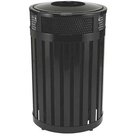 Decorative Trash Cans by Rubbermaid Fgmh24plbk 24 Gal Outdoor Decorative Trash Can