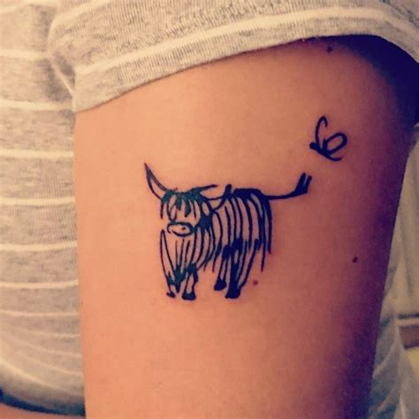 cow tattoos my highland cow novillo cow