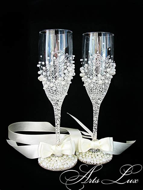 Wedding Glasses 15 personalized wedding chagne glasses in ivory by artslux on etsy 50 00 glasses wedding