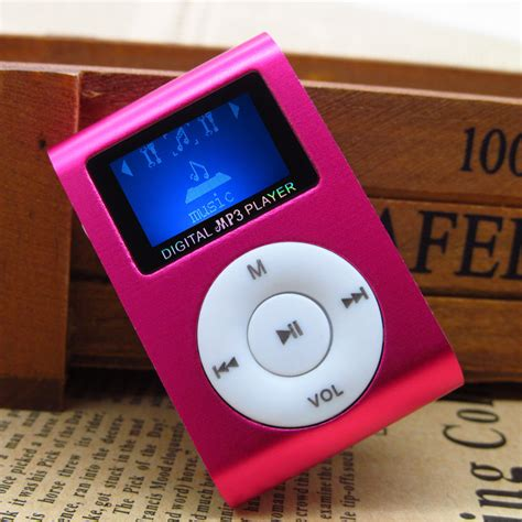 Mp3 Mini Player Jepit Colour aliexpress buy mini portable mp3 player with lcd screen metal clip tf card slot 5