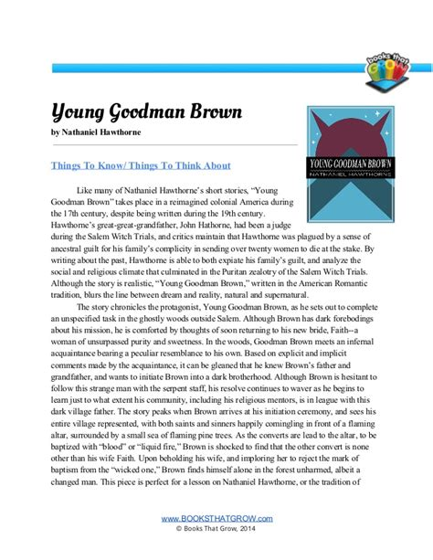 Critical Review Of Goodman Brown Essays by Goodman Brown Literary Analysis Essay Analysis Of Goodman Brown Essay