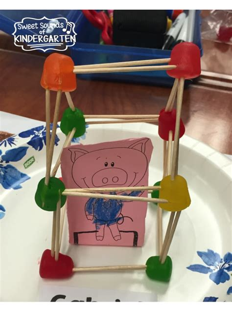 stem engineering houses for the three pigs with lego sweet sounds of kindergarten the 3 little pigs stem