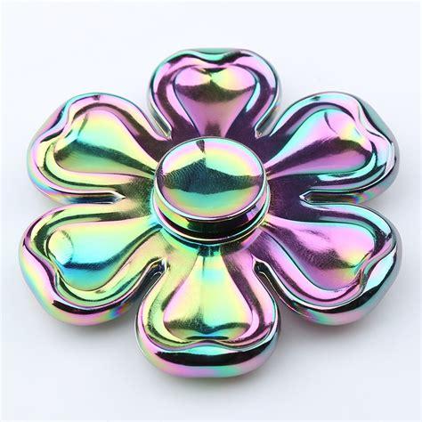 Fidget Spinner Metalic Croom Fidget Handspiner liga de zinco petaloid fidget spinner cor de