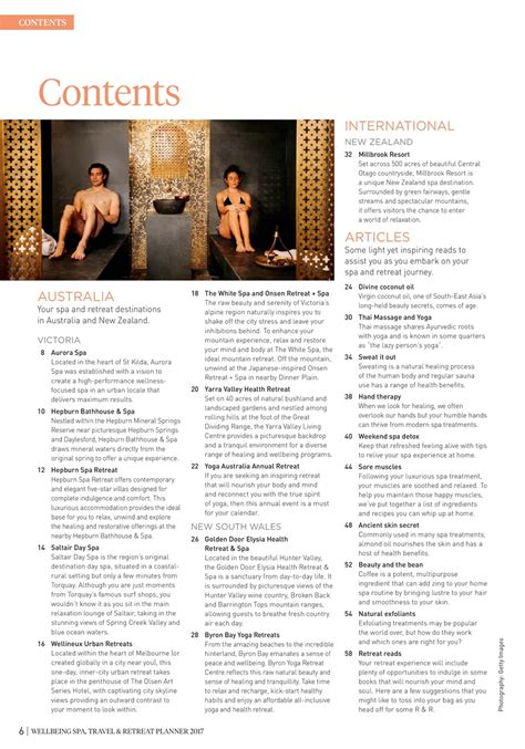 Detox Retreats Abroad by Wellbeing Magazine Wb Spa Retreat 2017 Subscriptions