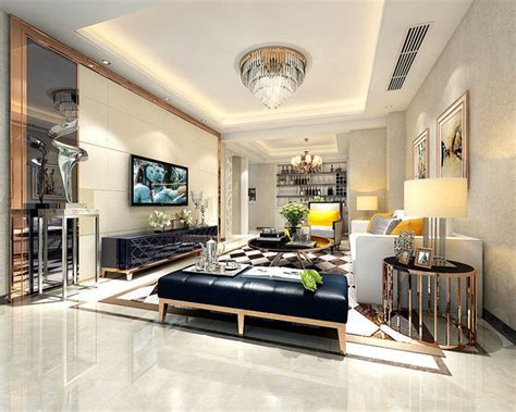 living room steakhouse family living room restaurant design 24129 3d model max