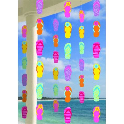 summer decoration summer flip flop string decorations 6ct venue summer supply stores and