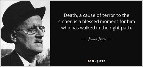 Jim And On The Right Path by Joyce Quote A Cause Of Terror To The Sinner