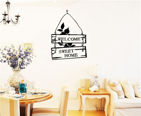 sweet home decoration aliexpress buy 1 set welcome sweet home decoration wall decals decorative removable vinyl
