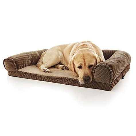 orthopedic pet bed buy pawslife orthopedic bolster pet bed in brown from bed