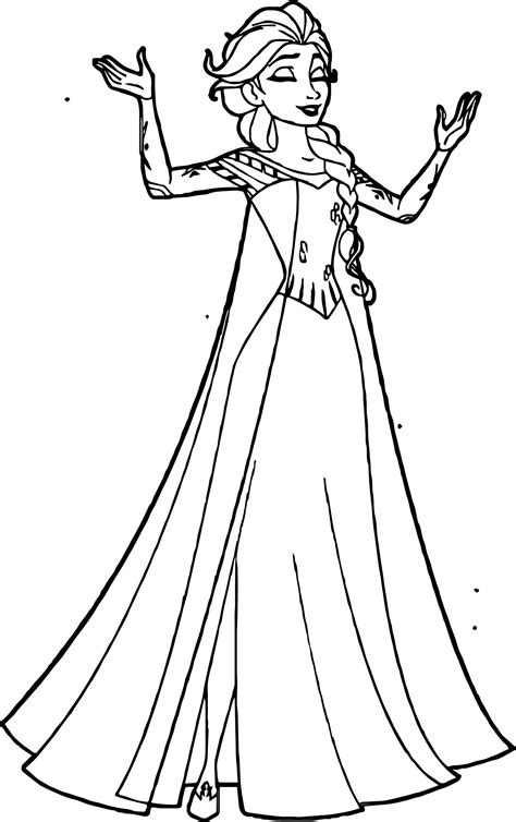 coloring pages elsa elsa coronation dress coloring page coloring pages
