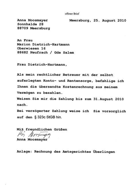 Offizieller Brief Beschwerde Moosmayer Dokumente Aus Einem Hundertj 228 Hrigen Leben 2010