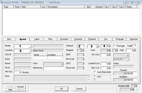 sle invoice model adding a model to an invoice