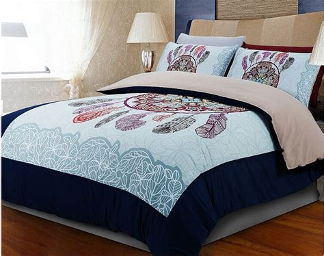 Size Quilt Bedding Sets Aliexpress Buy Light Blue Feather
