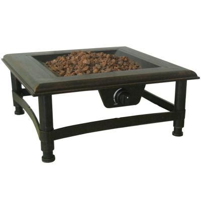 home depot firepits titan 34 in square propane pit