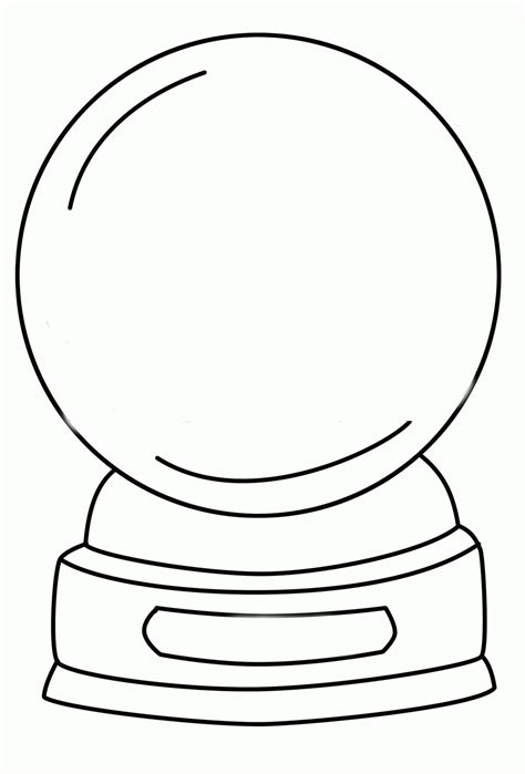 globe template snow globes coloring pages sketch coloring page