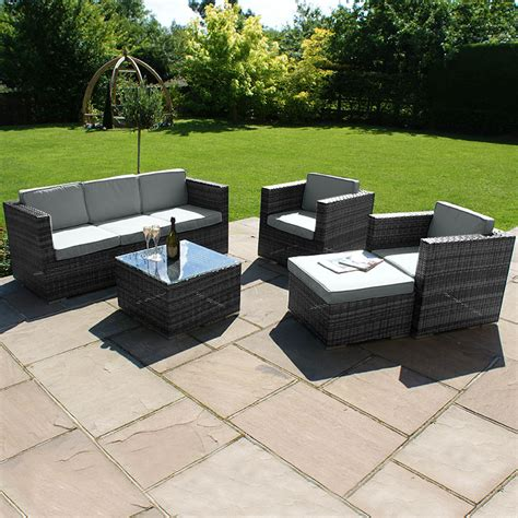 Sofa And Seat Set by Kensington Club 5 Sofa Set With 3 Seat Sofa Grey
