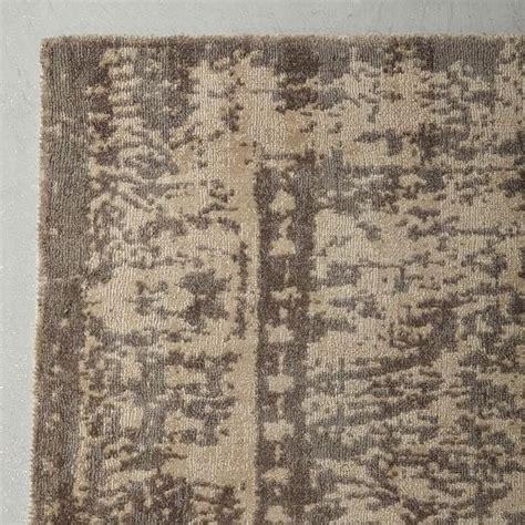 Distressed Wool Rug by Distressed Arabesque Wool Rug Neutral West Elm
