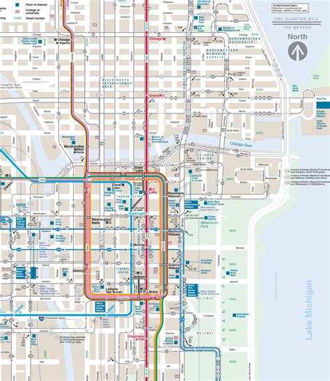 what is on a chicago map chicago loop afputra
