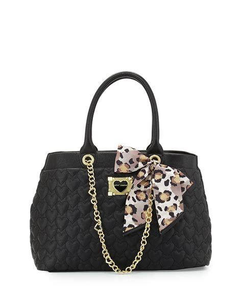 Betsey Johnson For Valentines Day 2 by Lyst Betsey Johnson Quilted Tote Bag In Black