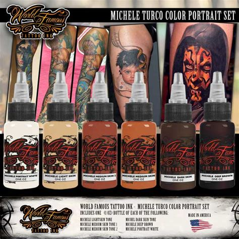 world famous tattoo supply michele turco color portrait set