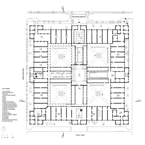 parts of a floor plan the city of the books and the images taller 6a archdaily