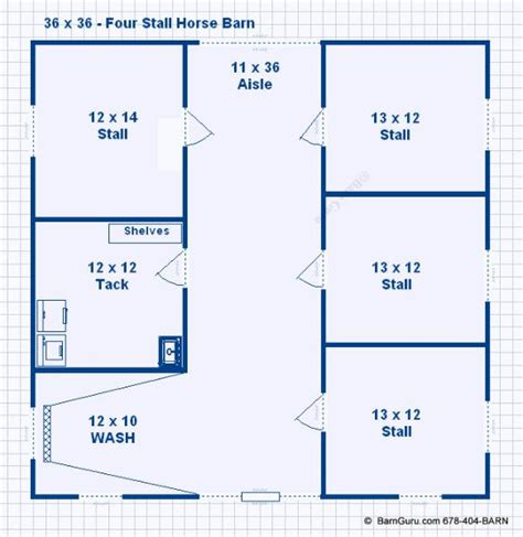 horse barn floor plans barn plans 4 stall horse barn plans design floor plan