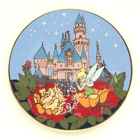 Disneyland Sleeping Castle Tinker Bell Ceramic Collectible Plate - tinker bell at sleeping s castle pin from our pins