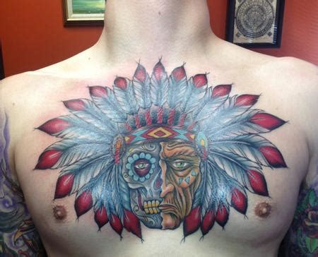 tattoo chest indian 26 indian chief tattoos and designs ideas