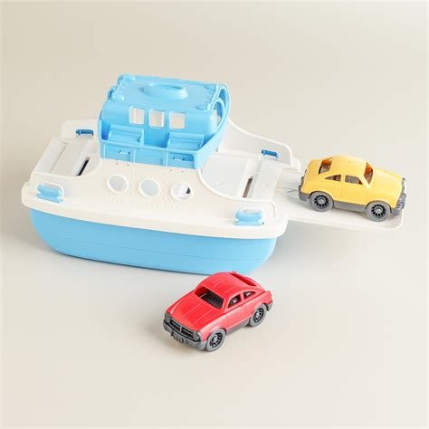 ferry boat toy green toys ferry boat with cars world market