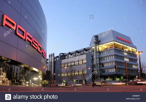 stuttgart porsche porsche headquarters in stuttgart stock photo royalty