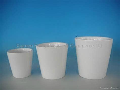 White Ceramic Plant Pots White Ceramic Flower Pots Hts China Manufacturer
