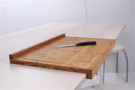 protege plan de travail cuisine planche de travail en bambou grand mod 232 le avec rebord