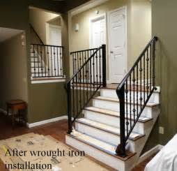 wrought iron interior railing