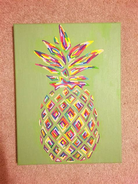 canvas craft projects best 25 pineapple painting ideas on pineapple