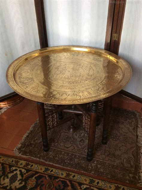 antique brass desk l benares brass top antiques atlas