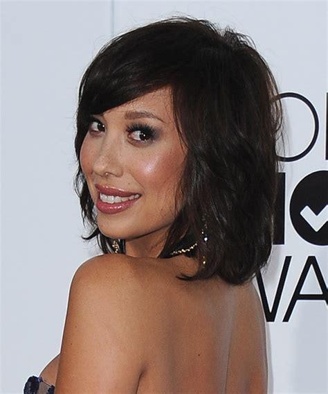 Cheryl Burke Hairstyles by Cheryl Burke Medium Casual Hairstyle With Side