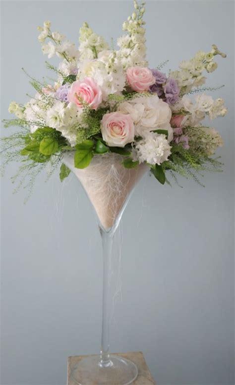 Giant martini vase of summer flowers   Brighton, Sussex