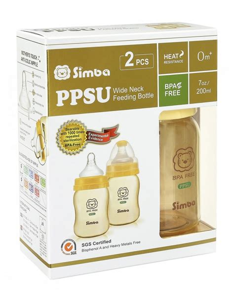 Simba Ppsu Wide Neck Calabash Feeding Bottle 270ml P6162 simba ppsu wide neck calabash feeding bottle 200ml cross pack lovely akachan