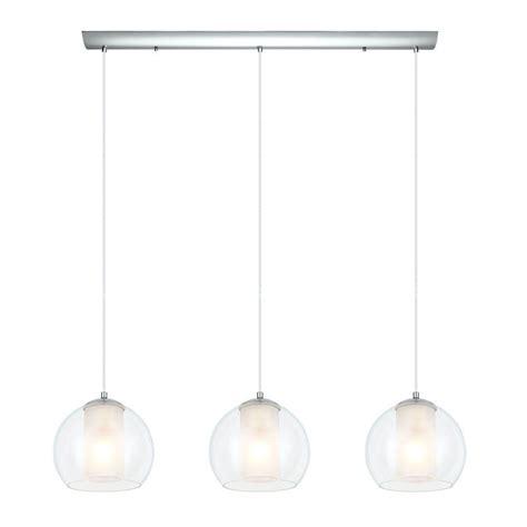 Large White Pendant Light Eglo Bolsano 3 Light Satin Nickel And White Large Pendant