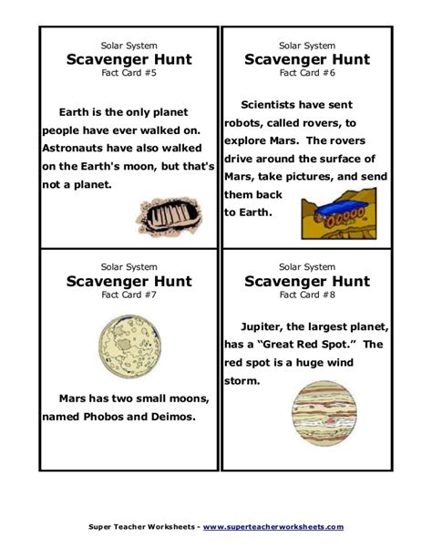 solar system fact cards template search results for moon worksheets calendar 2015