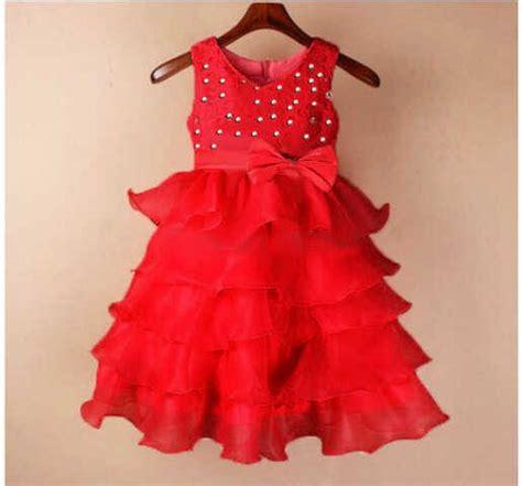 baju dress tutu merah anak perempuan cantik murah