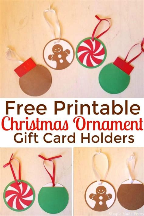 Printable Gift Card Holder - diy ornament gift card holders free printables diy