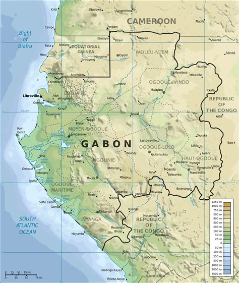 where is gabon on the world map topographic map of gabon mapsof net