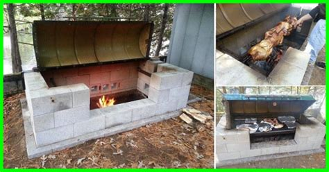 easy diy pit with grill you cooked on a rotisserie pit gotta go