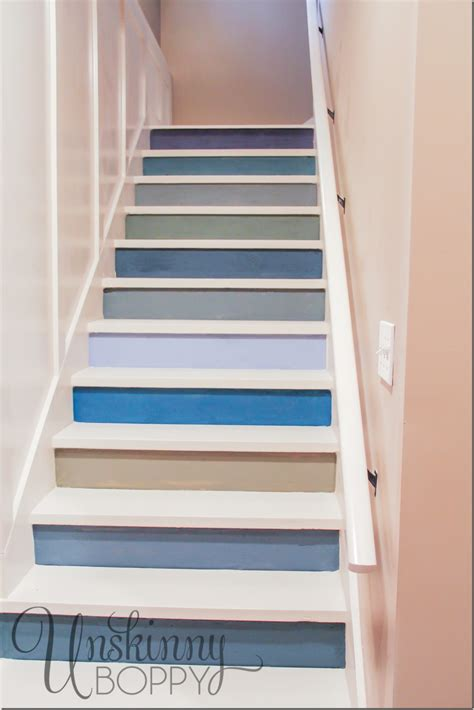 Cheap Way To Decorate Home by Painted Basement Steps With Board And Batten Unskinny Boppy