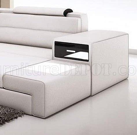 mini leather sectional sofa polaris mini sectional sofa in white bonded leather by vig