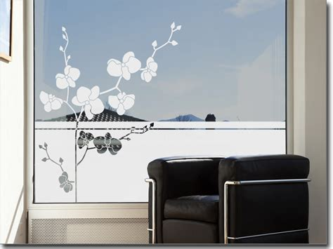 Fenster Sichtschutzfolie Klebefolie Orchidee fensterfolie bezaubernde orchidee sichtschutzfolie