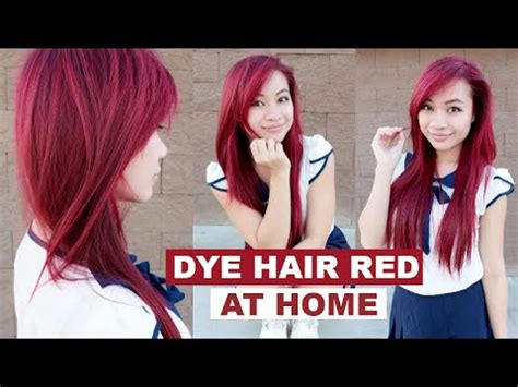 bright red hair tutorial tutorial on how to get bright red hair without bleaching