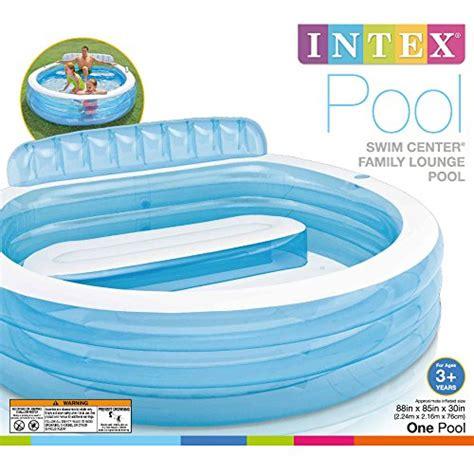 New Kolam Intex Swim Cwnter Family intex swim center family lounge pool 88 quot x 85